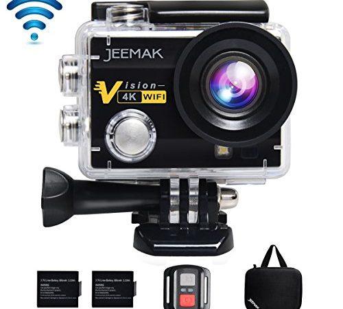action cam jeemak wifi action kamera 4k camera mit 2 4g. Black Bedroom Furniture Sets. Home Design Ideas