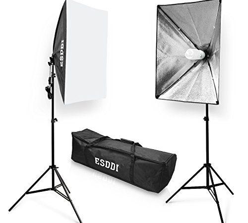 softbox dauerlicht studioleuchte esddi softboxen 2er set studio lights fotostudio licht. Black Bedroom Furniture Sets. Home Design Ideas