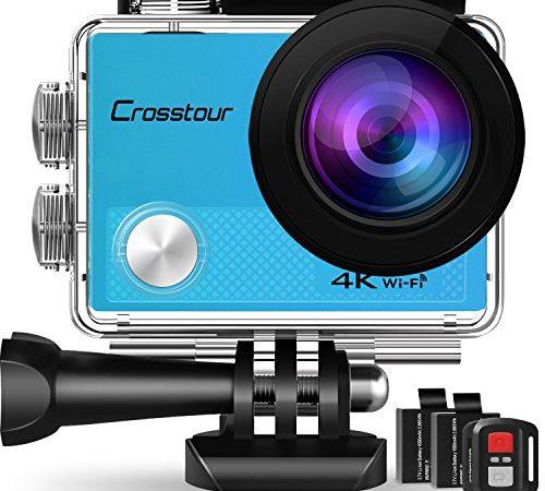 crosstour action cam sport kamera 4k wifi 16mp camera mit. Black Bedroom Furniture Sets. Home Design Ideas