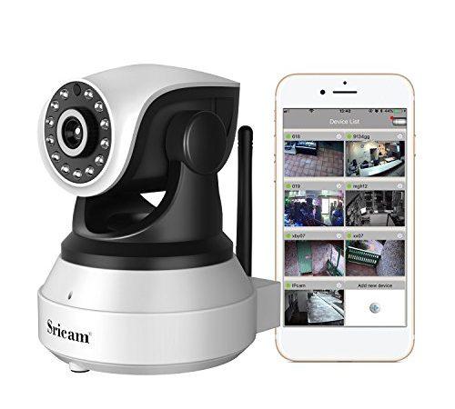 sricam sp017 720p ip kamera indoor wlan berwachungskamera mit bewegungsmelder und speicher. Black Bedroom Furniture Sets. Home Design Ideas