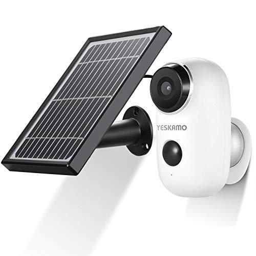 akku berwachungskamera mit solarpanel kabellos wifi kamera wasserdicht intelligente ip kamera. Black Bedroom Furniture Sets. Home Design Ideas