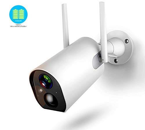 berwachungskamera aussen mit akku 1080p outdoor wlan kamera mit 10400mah batterie 4db. Black Bedroom Furniture Sets. Home Design Ideas